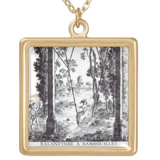 The Garden Swing at Rambouillet, from 'Details des Gold Plated Necklace
