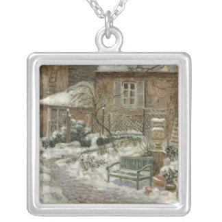 The Garden under Snow, 1909 Silver Plated Necklace