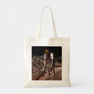 """""""The Gardener"""" Vintage Illustration Budget Tote Bag"""