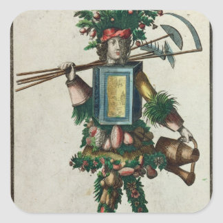 The Gardener's Costume Square Sticker