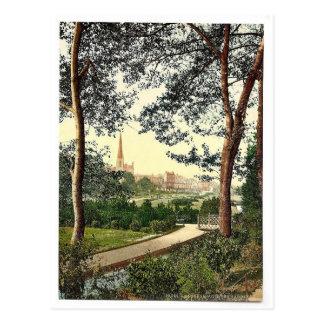 The Gardens I, Bournemouth, England vintage Photoc Postcard