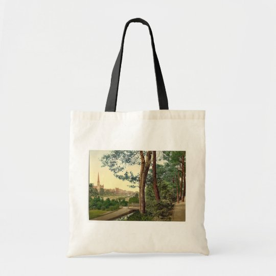 The Gardens II, Bournemouth, England vintage Photo Tote