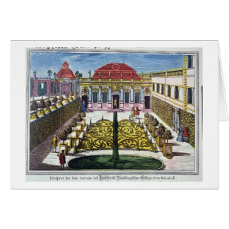 The Gardens of the Mirabelle Park, Salzburg, Austr Greeting Card
