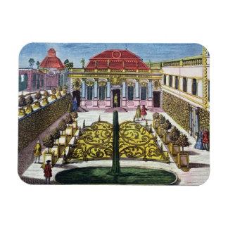 The Gardens of the Mirabelle Park, Salzburg, Austr Rectangular Photo Magnet