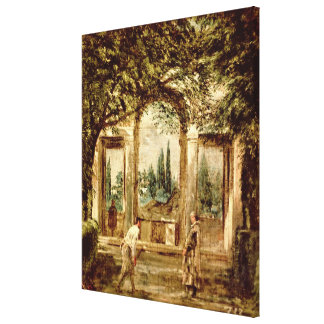 The Gardens of the Villa Medici in Rome Stretched Canvas Print