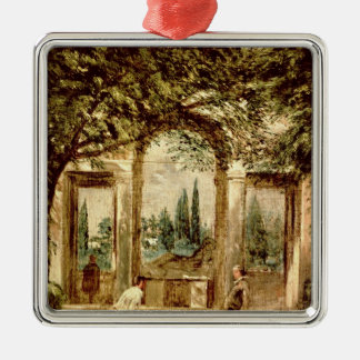 The Gardens of the Villa Medici in Rome Christmas Ornament