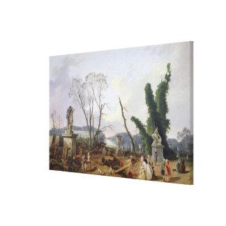 The Gardens of Versailles Gallery Wrap Canvas