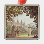 The Gardens of Windsor Castle Square Metal Christmas Ornament