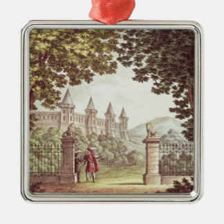 The Gardens of Windsor Castle Silver-Colored Square Decoration