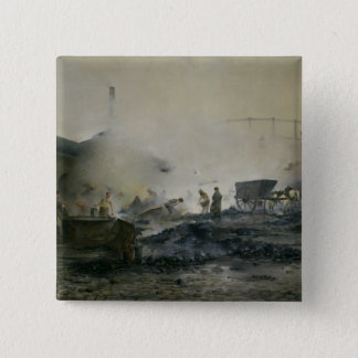 The Gas Factory at Courcelles, 1884 15 Cm Square Badge