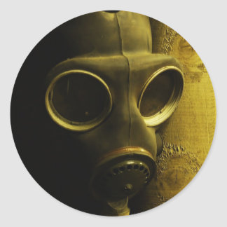 The gas mask classic round sticker