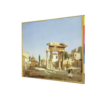 The Gate of Agora in Athens, 1843 Canvas Print