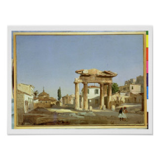 The Gate of Agora in Athens, 1843 Poster