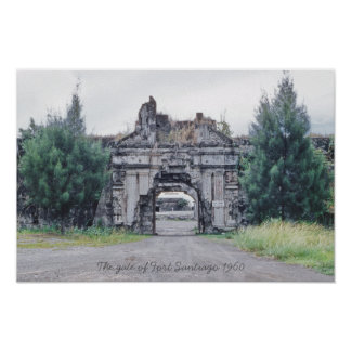 The gate of Fort Santiago 1960 Intramuros Manila Poster