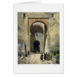 The Gate of Justice, entrance to the Alhambra, Gra Card