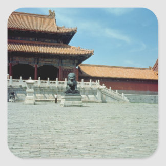 The Gate of Supreme Harmony  Ming Dynasty, 1420 Square Sticker