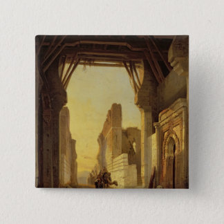 The Gates of El Geber in Morocco 15 Cm Square Badge