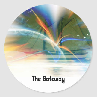The Gateway Round Stickers