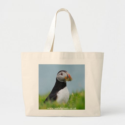The Gatherer Puffin Jumbo Tote Bag