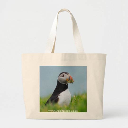 The Gatherer Puffin Large Tote Bag