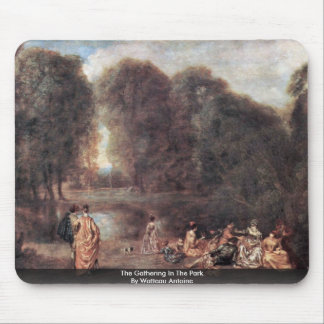 The Gathering In The Park By Watteau Antoine Mousepad