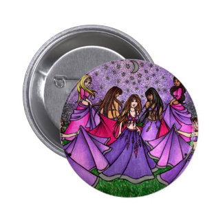 The Gathering of Belly Dancers in Purple 6 Cm Round Badge