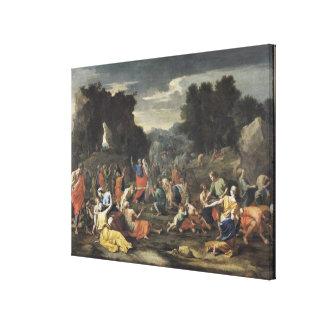 The Gathering of Manna, c.1637-9 Canvas Print