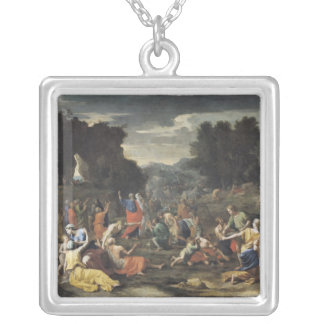 The Gathering of Manna, c.1637-9 Silver Plated Necklace