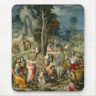 The Gathering of Manna - Francesco Bacchiacca Mousepad