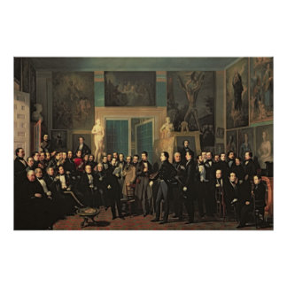 The Gathering of the Poets, 1846 Poster