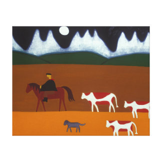 The Gaucho and his Cattle 2006 Canvas Print