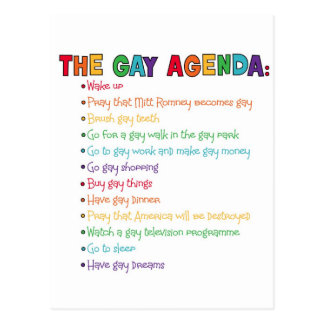 The Gay Agenda Postcard