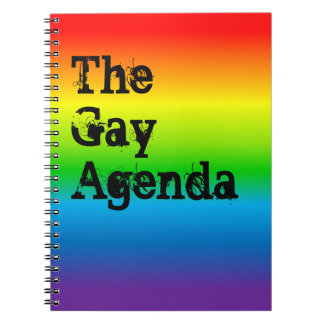 The Gay Agenda Rainbow Gradient Notebook