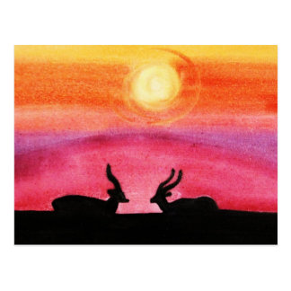 The Gazelles @ Sunset (Kimberly Turnbull Art) Postcard