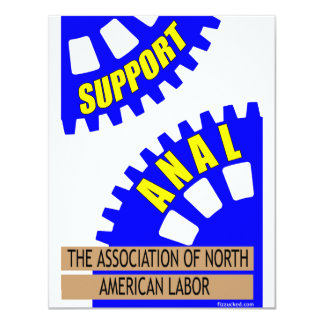 The Gears of Industry Grind the Worker Up! 4.25x5.5 Paper Invitation Card