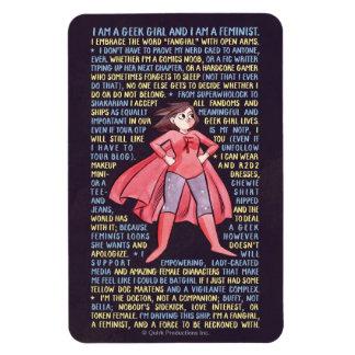 The Geek Girl's Litany for Feminism Magnet