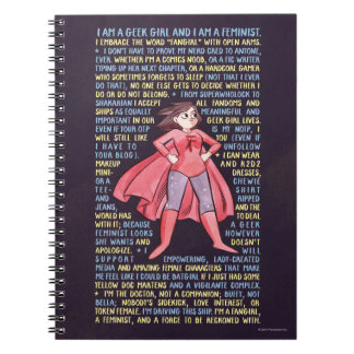 The Geek Girl's Litany for Feminism Note Books