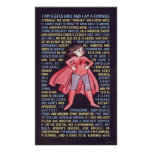 The Geek Girl's Litany for Feminism Poster
