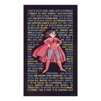 The Geek Girl's Litany for Feminism Print