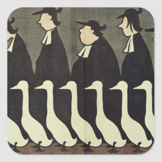 The Geese, anti-clerical Square Sticker