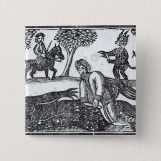 The Gelding of the Devil 15 Cm Square Badge
