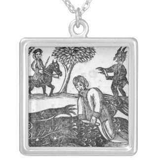 The Gelding of the Devil Silver Plated Necklace