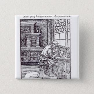 The Gem Engraver, published by Hartman Schopper 15 Cm Square Badge