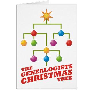 The Genealogists Christmas Tree Card