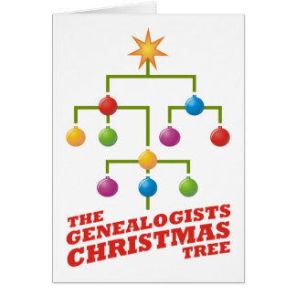 The Genealogists Christmas Tree Greeting Card