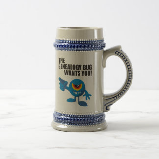 The Genealogy Bug Wants You! Beer Steins