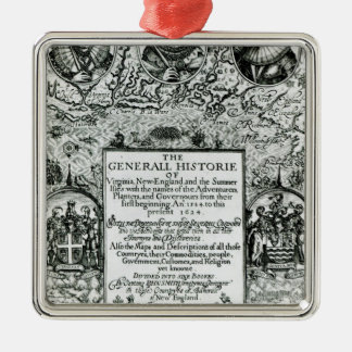 The General Histoire of Virginia Christmas Ornament