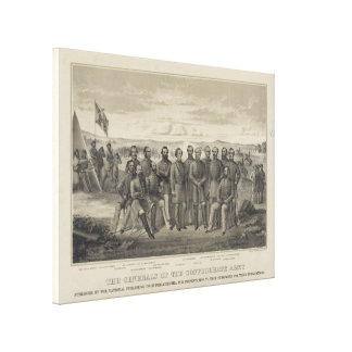 The General s of the Confederate Army Stretched Canvas Prints