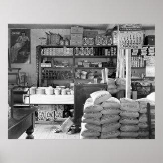The General Store, Moundville, Alabama: 1936 Poster