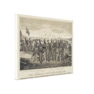 The General's of the Confederate Army Canvas Prints